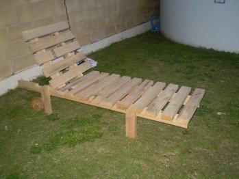 cadeira de sol de paletes