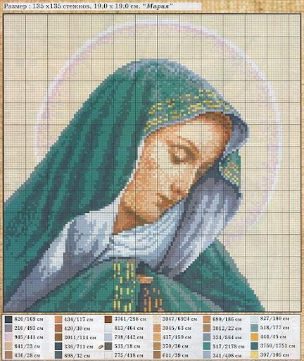 Вышивка крестом католические иконы