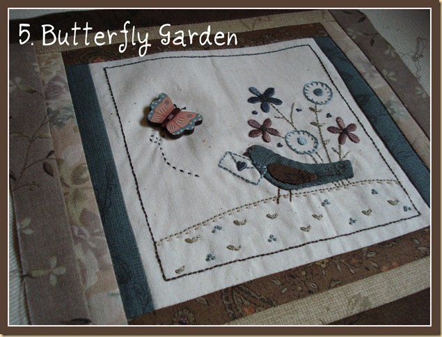 BL 5 BOM MY GARDEN BUTTERFLY GARDEN pic