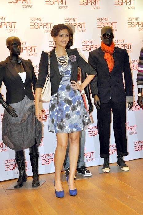 sonam kapoor launch esprit store hot photoshoot