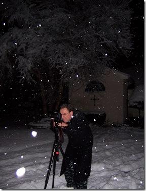 Ben setting up a timed shot