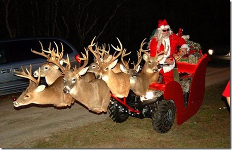 Redneck Santa And Sleigh