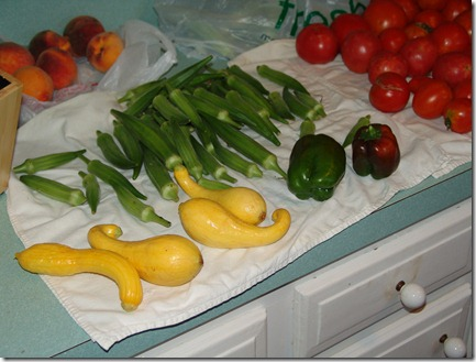 garden goodies and okra 005