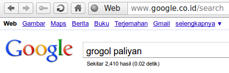 Desa Grogol Menurut Google