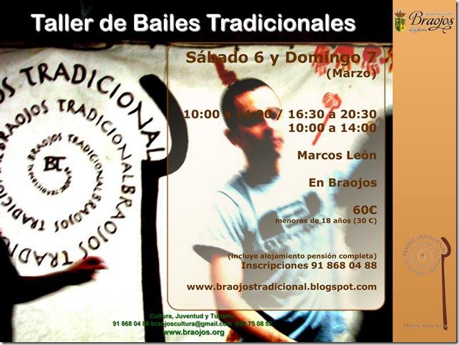taller de bailes tradicionales con Marcos León en Braojos 2010