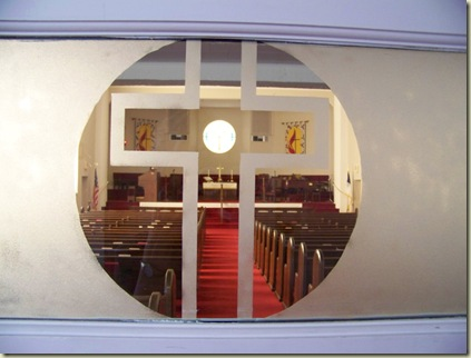 Through the narthex door