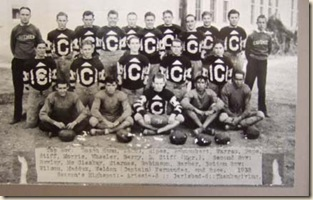 1932 Caveman football team_Captain Fernandez second from right in front row_2