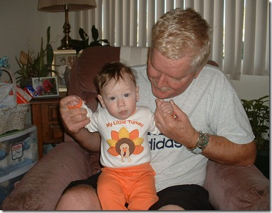 Jimi and Gramps_Jimis first Thanksgiving 2005_five months old