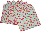 Set of 8 Cherry Napkins