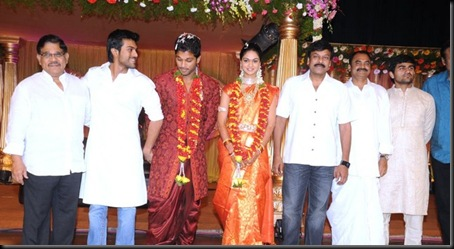 Allu Arjun Sneha Reddy wedding reception pictures2