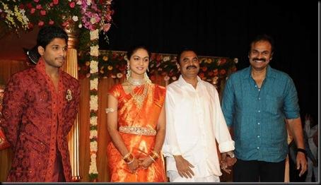 Allu Arjun Sneha Reddy wedding reception pictures-6