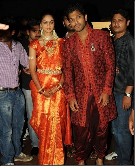 Allu Arjun Sneha Reddy wedding reception pictures12