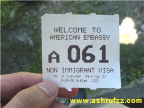 Non-Immigrant US Visa Queue Number
