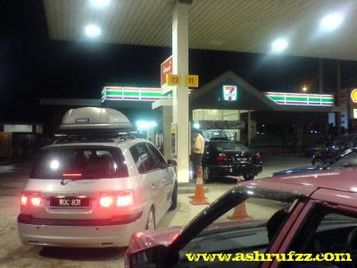 Trying to refuel my car before the petrol price sky-high hike