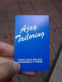 Kad Tempahan Ajay Tailoring