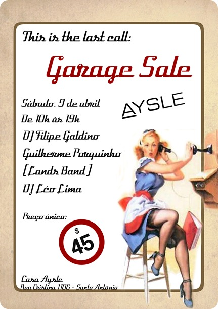Garage Sale last call