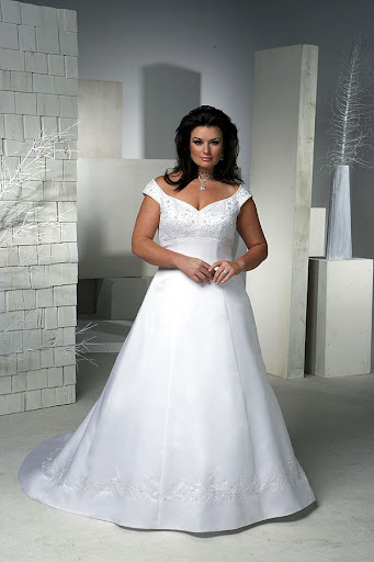 Stunning Plus Size Bridal Gown