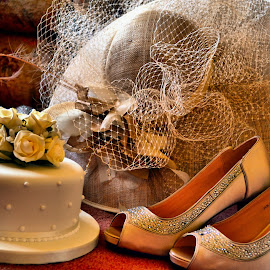 hat cake and shoes by Nic Scott - Artistic Objects Clothing & Accessories ( shoes, cake, wedding cake, hat,  )