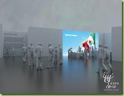 Interior del Pabellón de México para la Expo 2010 Shanghái