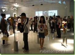 Visitantes en el Pabellón de México