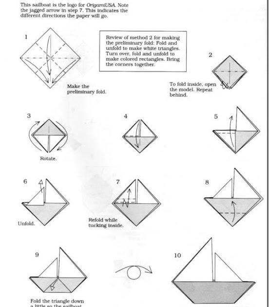 papiroflexia f u00e1cil  barco con diagramas
