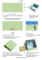 ORIGAMI BOX WRAP LID TUTORIAL magic boxes