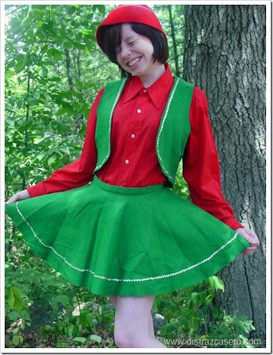 disfraz de elfo para nia