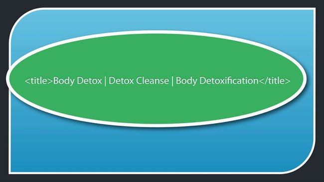 Body detox detox cleanse body detoxification title tag