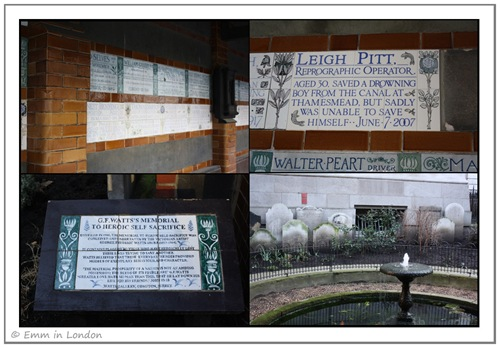 The Heroes' Memorial in Postman's Park