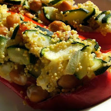 Couscous and Feta Stuffed Bell Peppers