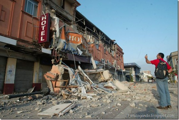 Fotos do Devastador terremoto no Chile