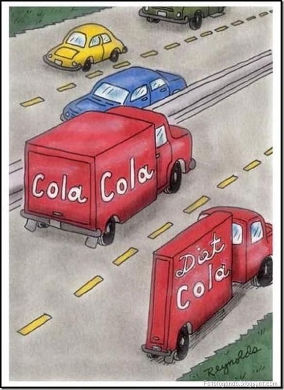 Diferença entre coca normal e diet