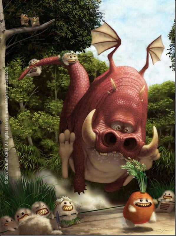 Criaturas divertidas em 3D (21)