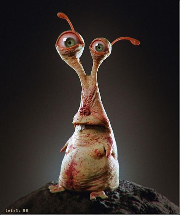 Criaturas divertidas em 3D (14)