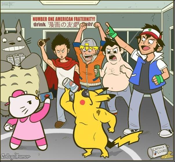 Personagens de desenhos animados na faculdade (2)