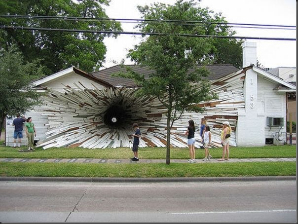 Casa em formato de túnel