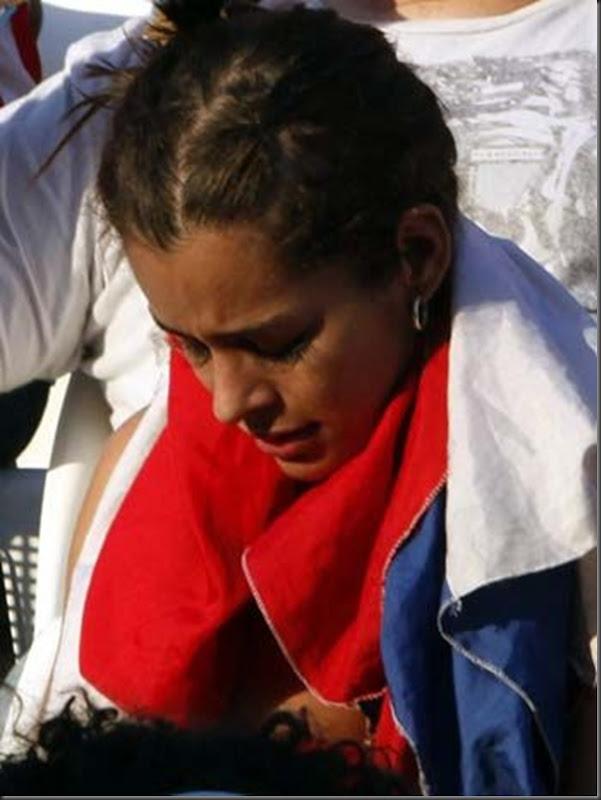 O choro de Larissa Riquelme