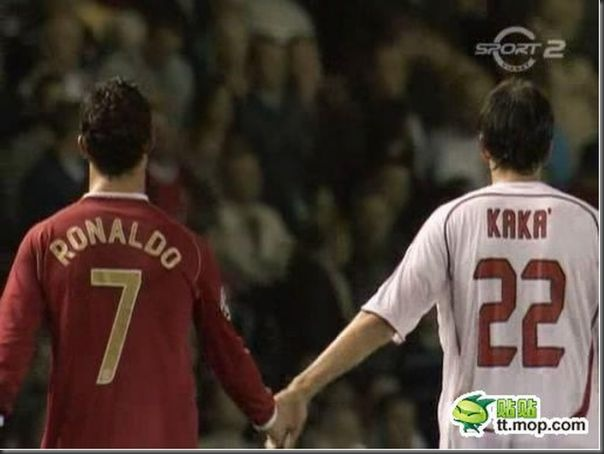 A bela amizade de Cristiano Ronaldo e Kaká (1)