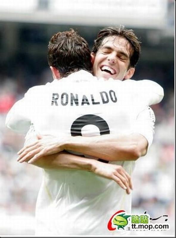 A bela amizade de Cristiano Ronaldo e Kaká (4)