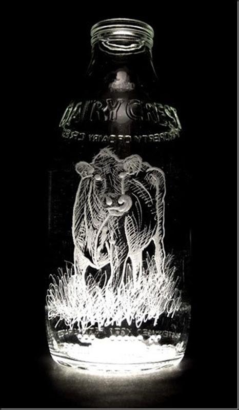 Arte na garrafa de leite por Charlotte Hughes-Martin (30)