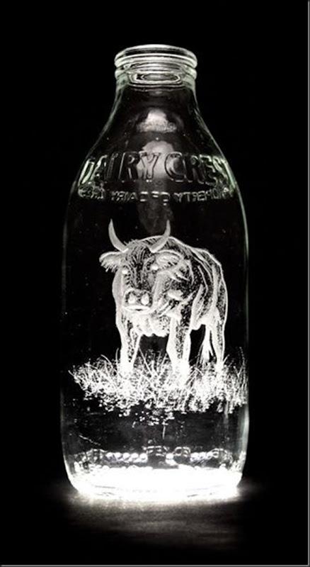 Arte na garrafa de leite por Charlotte Hughes-Martin (5)