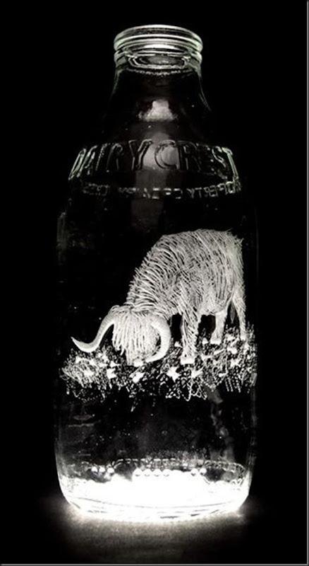 Arte na garrafa de leite por Charlotte Hughes-Martin (16)