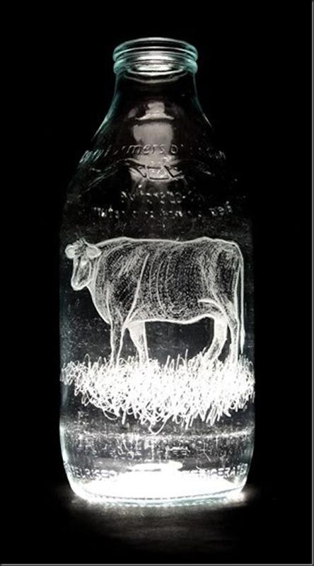 Arte na garrafa de leite por Charlotte Hughes-Martin (10)