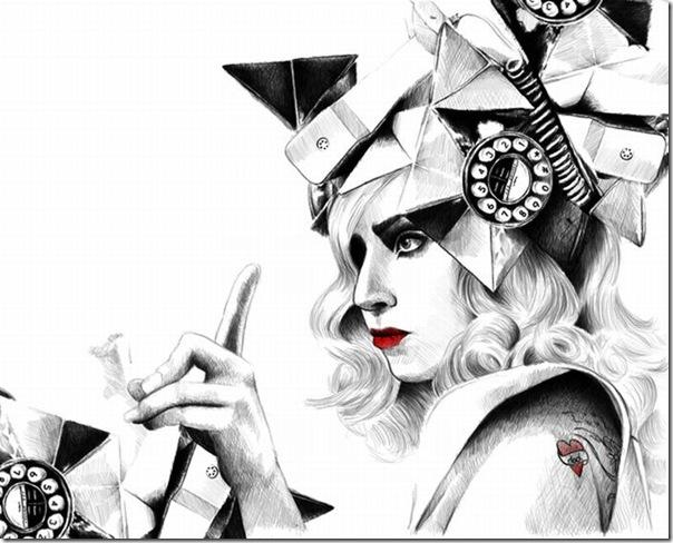 50 desenhos feitos por fãs de Lady Gaga (49)