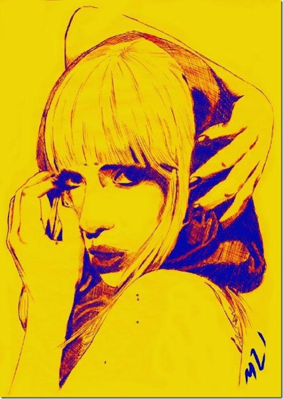 50 desenhos feitos por fãs de Lady Gaga (29)