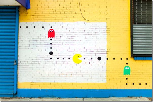 Pacman invade as ruas de Nova York (4)
