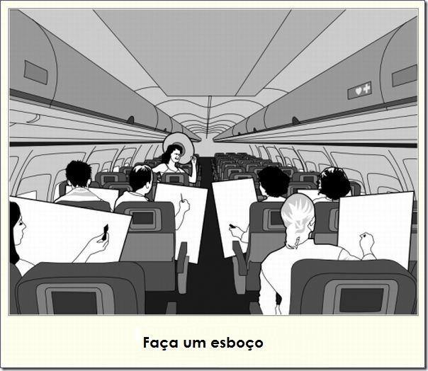 O que fazer durante uma viagem de avião