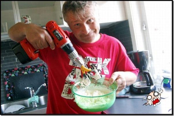 Homem na cozinha = perigo