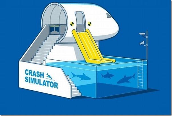 Simulador de queda na água