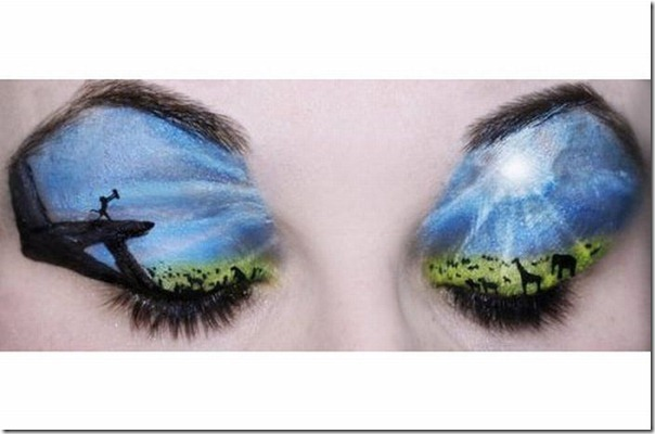 Linda maquiagem nos olhos em forma de sombra (3)